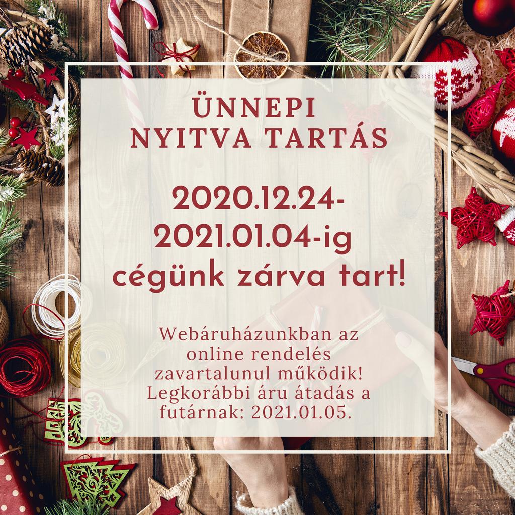 Karácsonyi ünnepi nyitva tartás